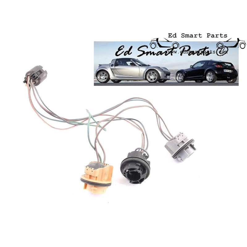 Smart Roadster 452 rear light lamp lens bulb holder cluster wiring on