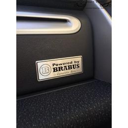 Aluminium Aangedreven door BRABUS Badge Emblem Decal interieur achterschoen