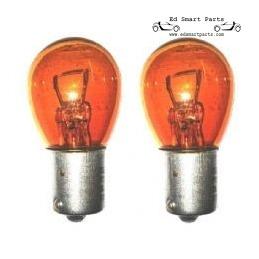 2x Amber Indicator Car Bulbs 12V 21W