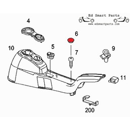 Smart Roadster screw cover...