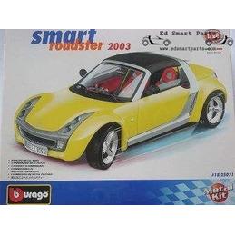 Smart roadster ShineYellow 2003 Cabrio Bausatz 1/24 Bburago
