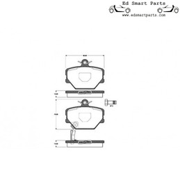 Voorremblokken smart roadster 452 / fortwo 450