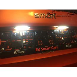 Smart fortwo 453 LED-kenteken licht vrij van fouten 6000k