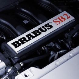 """Piastra di arredamento BRABUS motore """"SB2"""" - per fortwo 450 e roadster 452"""