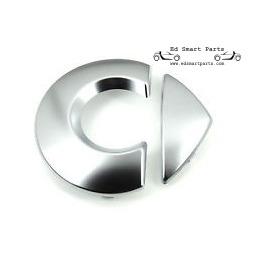 Chickenhead Logo / Emblem für Motorhaube Silber, selbstklebend