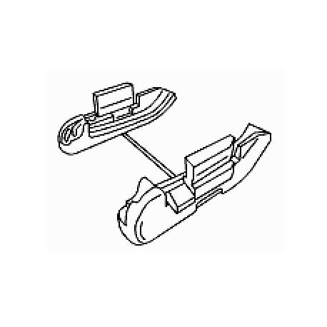 smart roadster hardtop roof storage holders ed smart parts. Black Bedroom Furniture Sets. Home Design Ideas