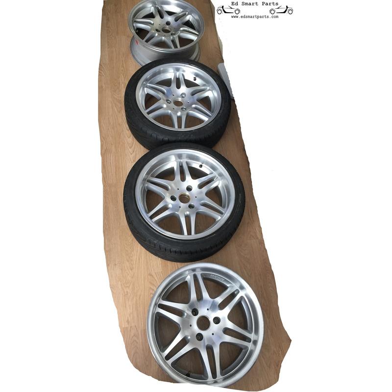 used set of smart roadster brabus monoblock vi wheels. Black Bedroom Furniture Sets. Home Design Ideas