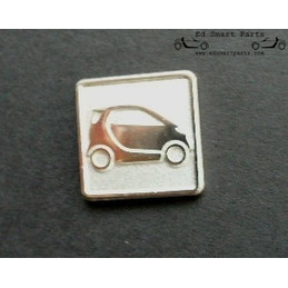 Smartware Smart ForTwo pin silver colour
