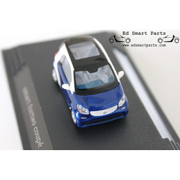 Busch Smart 453 Fortwo Coupe white / midnight blue Model Car 1:87