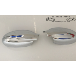 mirror covers chrome polished pair for Smart Roadster and ForTwo 450