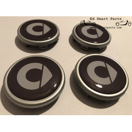 "Smart Wheel Centre Cap set  ""new style"" logo for genuine smart wheels"