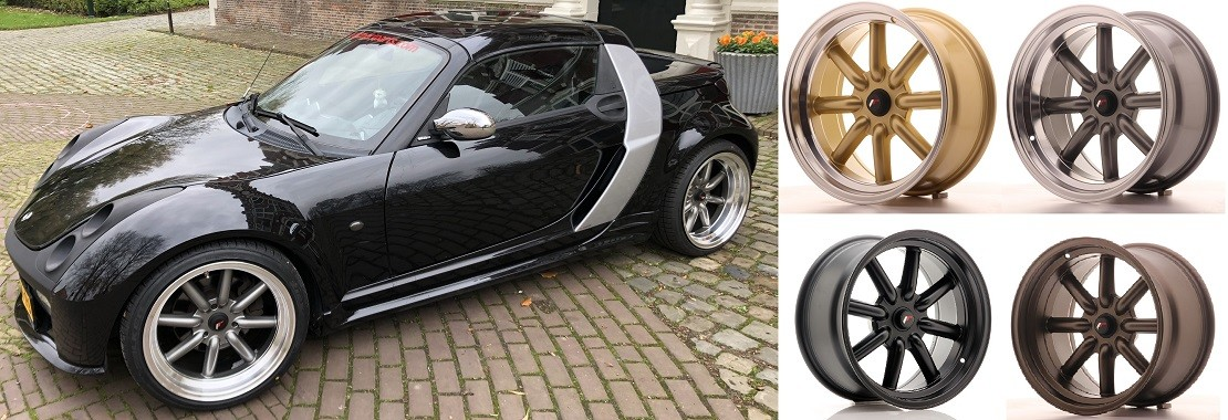 New Japan Racing wheels for every smart roadster!